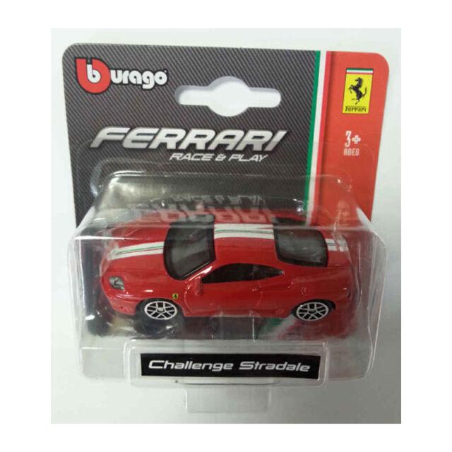 Bburago 56000 Ferrari Challenge Stradale Rosso Scala 1:64 MODELLINO AUTO NUOVO!