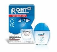 Rohto Cooling Redness Relief Eye Drops, 4oz(soothes itch, irritation & burn)