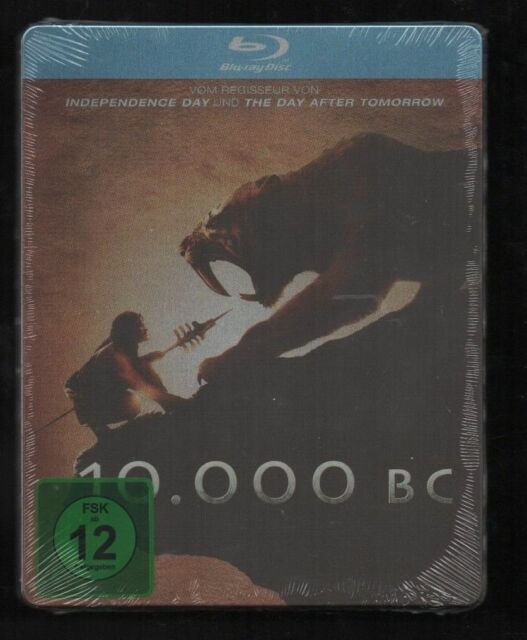 10.000 BC - GERMAN BLU RAY STEELBOOK - NEW & SEALED