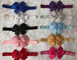 Baby-Girls-Bow-Glitter-Band-Headband-Soft-Elastic-Variety-Hair-Accessories-Lot