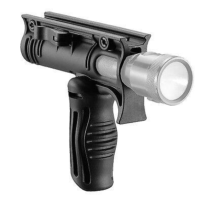 "Fab Defense Tactical Two Position Foregrip & 1"" Flashlight Mount Adaptor FFA-T4"