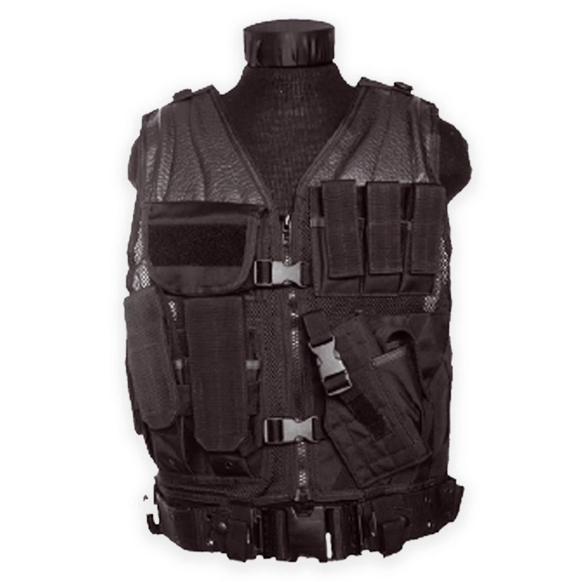 Airsoft USMC Tactical Combat Assault Vest Military  Police Holster Pouches negro  punto de venta