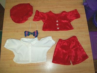 "RED PANNE VELVET DRESS for 16/"" CPK Cabbage Patch K GOLD TRIMMED CHRISTMAS BALLS"