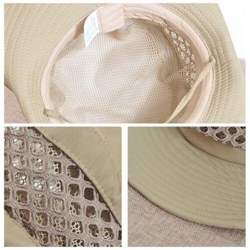 Hommes Femmes Pêche Chapeau bonnet maille Bush Randonnée Sun Safari pliable militaire fashion