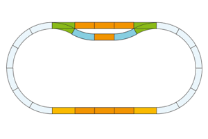 Piko 35300 Conjunto de pista de seguimiento de estación (G-escala)