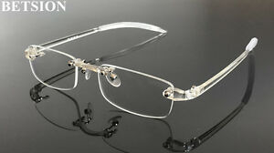 d49a3d8273 Image is loading TR90-Flexible-Rimless-lightweight-Eyeglass-Frames-Glasses- Rimless-