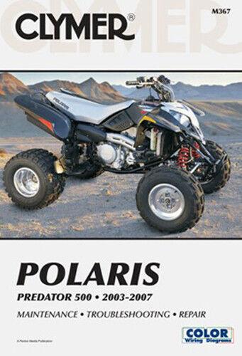 Clymer ATV Repair Manual for Polaris 500 Predator 03-07 M367