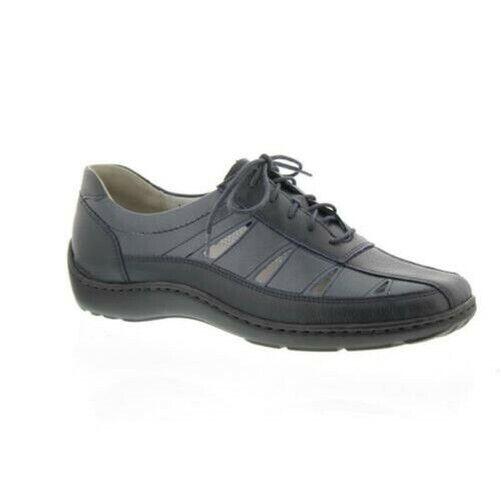 Waldläufer Henni, pro-Aktiv pantilla, low zapatos ocean, wide H