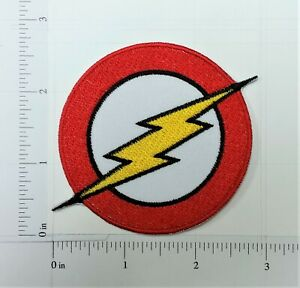 The Flash Iron On Patch Superhero Kids Movies Badge Bolt Logo Sew