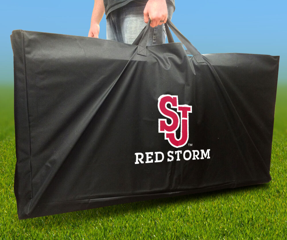 ST JOHNS RED STORM Licensed CORNHOLE Board CARRYING CASE Storage Carry Bag