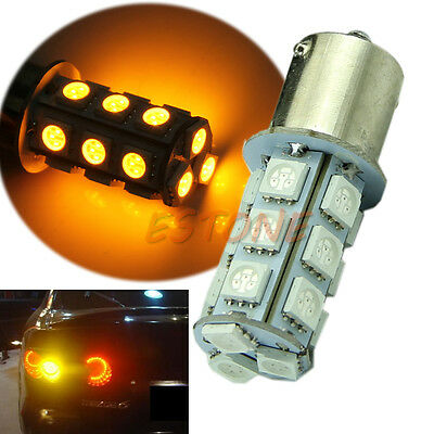 Yellow 1156 BA15S P21W 1129 18-LED Car Tail Rear Turn Signal Light Bulb Lamp 12V