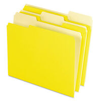 Pendaflex Colored File Folders 1/3 Cut Top Tab Letter Yellow Light Yellow 100 on sale