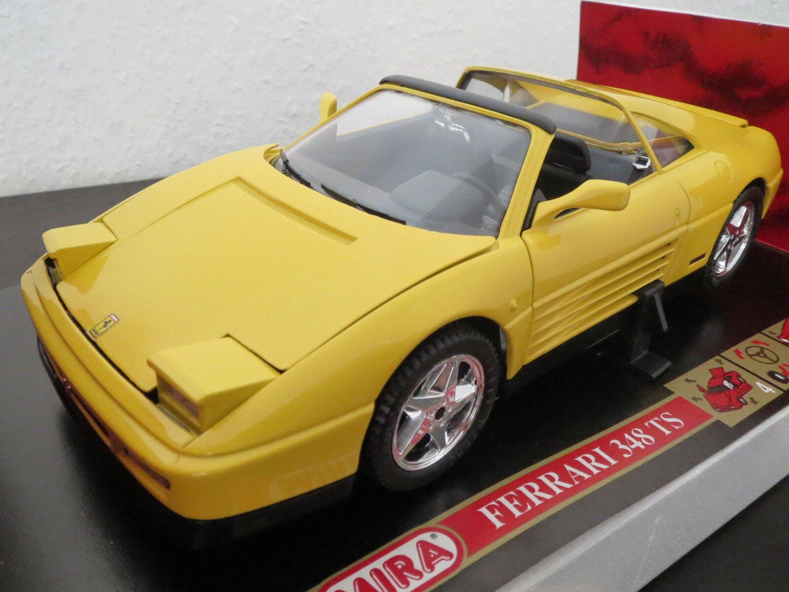 Rar  Mira Ferrari 348 ts, jaune, 1 18, neufs, top en OVP