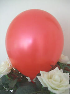 """50 RED LATEX BALLOONS 12"""" HIGH QUALITY Helium Air Biodegradable Wedding Party"""