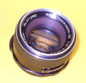 AUTO-YASHINON-DX-50mm-1-1-7-in-very-good-condition