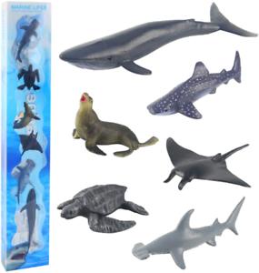 Sanlebi Sea Animal Figures Animal Toys Ocean Animals Realistic Sea Life Whales t