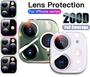 Pour iPhone 12 11 Pro Max Full Cover Verre Trempé lentille de la caméra protecteur d'écran