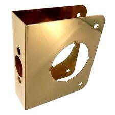"Warwick 1 3//8/"" Door Edge Guard Reinforcer 2 3//8/"" Backset Polished Brass SH1070PB"