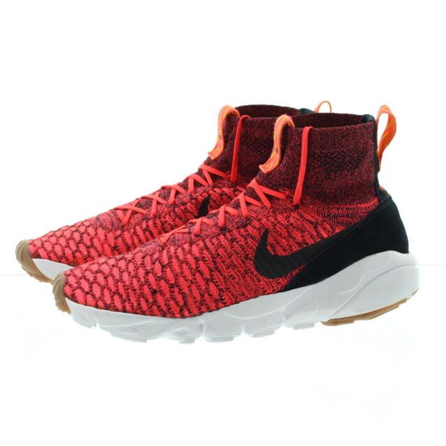203dc382a Nike Air Footscape Magista Flyknt Crimson Black Mens Shoes SNEAKERS ...