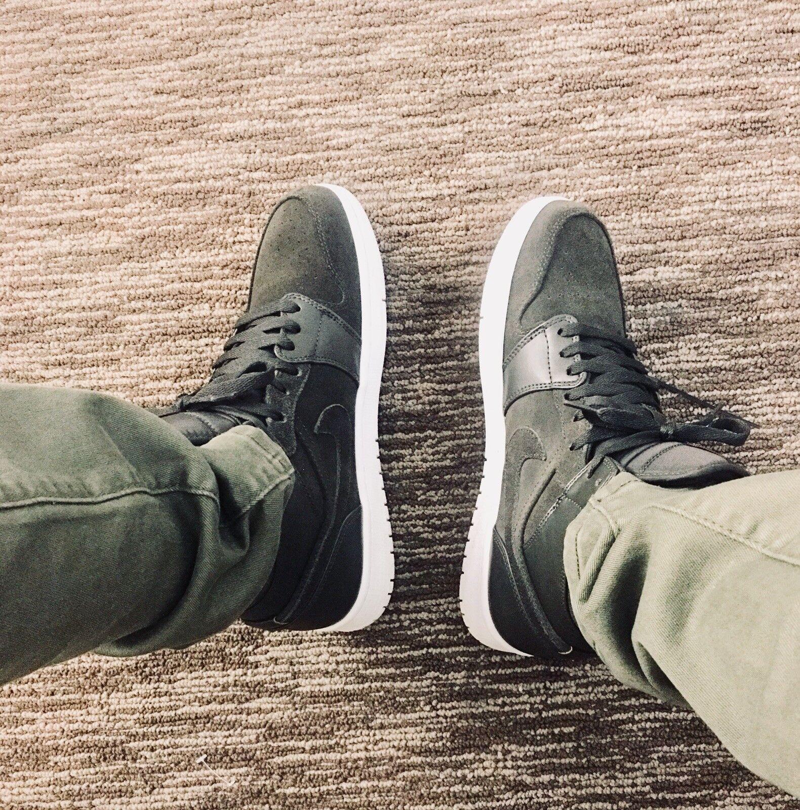 2018 Nike Air Jordan Retro 1 High Clay Green 555088-135 lot New Men's Sz: 10