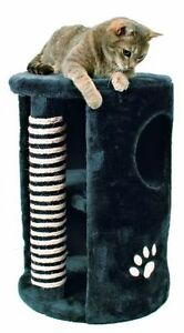 Trixie Cat Tower Dino Avec coffre, Ø 41/58 cm, anthracite