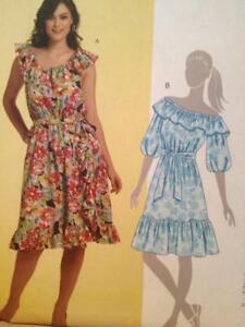 McCalls-Sewing-Pattern-5864-Ladies-Misses-Dresses-Sash-Size-18w-24w-Uncut