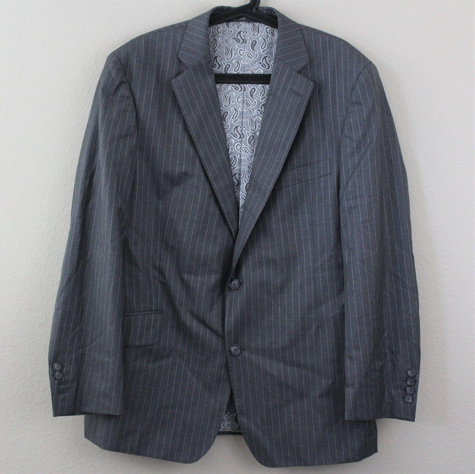 40 SAVILE ROW x LORO PIANA Sakko Pinstripe 2 Button Suit Blazer  Herren 54 B238