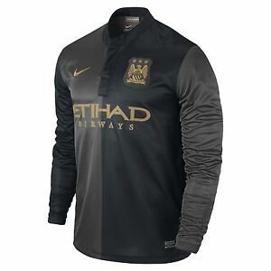 Image is loading NIKE-MANCHESTER-CITY-LONG-SLEEVE-AWAY-JERSEY-2013- d0e5a3d2b388