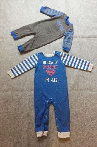 Superman Batman Long Sleeve Winter Romper //Pajamas PJ//Pram Suit//3-24m sz00//0//1//2