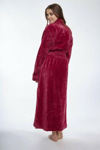 Luxury 100/% Cotton Ribbed Chenille Shawl Collar Robe Dressing Gowns Bathrobe