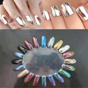 Image Is Loading 12 Colors Set Magic Mirror Chrome Effect Metallic