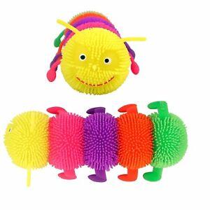 Luz-Intermitente-Puffer-Caterpillar-Sensorial-Tactil-confortables-Elastico-Juguete-intranquilo