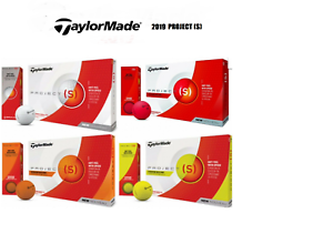 2019-TaylorMade-Project-S-Matte-Yellow-Orange-Red-White-dozen-pack