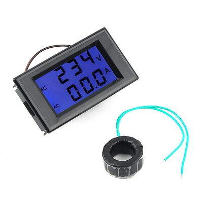 AC Digital Ammeter Voltmeter LCD Panel Amp Volt Meter 100A 300V 110V 220V IC