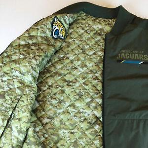 Détails sur Nike NFL Salute to service Réversible Veste Aviateur Jacksonville Jaguars 200 $ afficher le titre d'origine