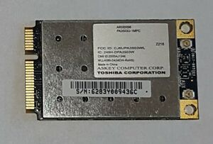 TOSHIBA-PA3503U-1MPC-Atheros-inalambrica-de-AR5BXB6-802-11A-B-G-Mini-Pcie-WLL4080-D4