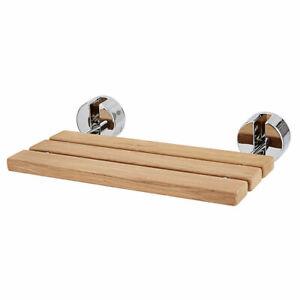 Groovy Details About 20 Wall Mounted Teak Wood Folding Shower Bath Seat Medical Bench Bathroom Stool Inzonedesignstudio Interior Chair Design Inzonedesignstudiocom