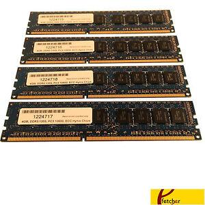 16gb (4 X 4gb) Mémoire Ddr3 1333 Pc3 10600 Ecc Pour Dell Poweredge T110 Dans Beaucoup De Styles