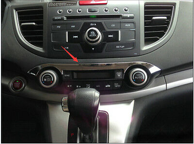 ABS Chrome Middle Console Cover Trim 1pcs For Honda CRV CR-V 2012 2013 2014