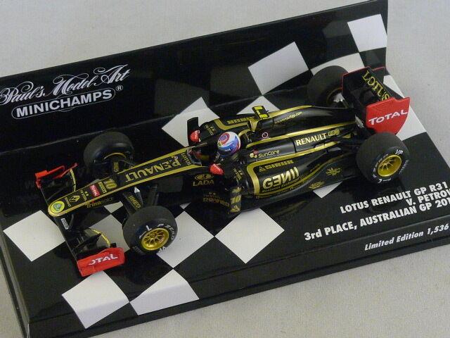 MINICHAMPS 410110110 Lotus Renault R31 2011 N°10 Petrov Petrov Petrov GP Australie  1/43 | Bien Connu Pour Sa Fine Qualité  c35164