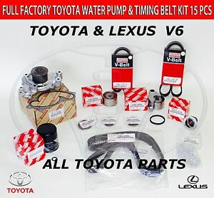 genuine all toyota timing belt kit 3 0 v6 1mzfe engine camry lexus image is loading genuine all toyota timing belt kit 3 0