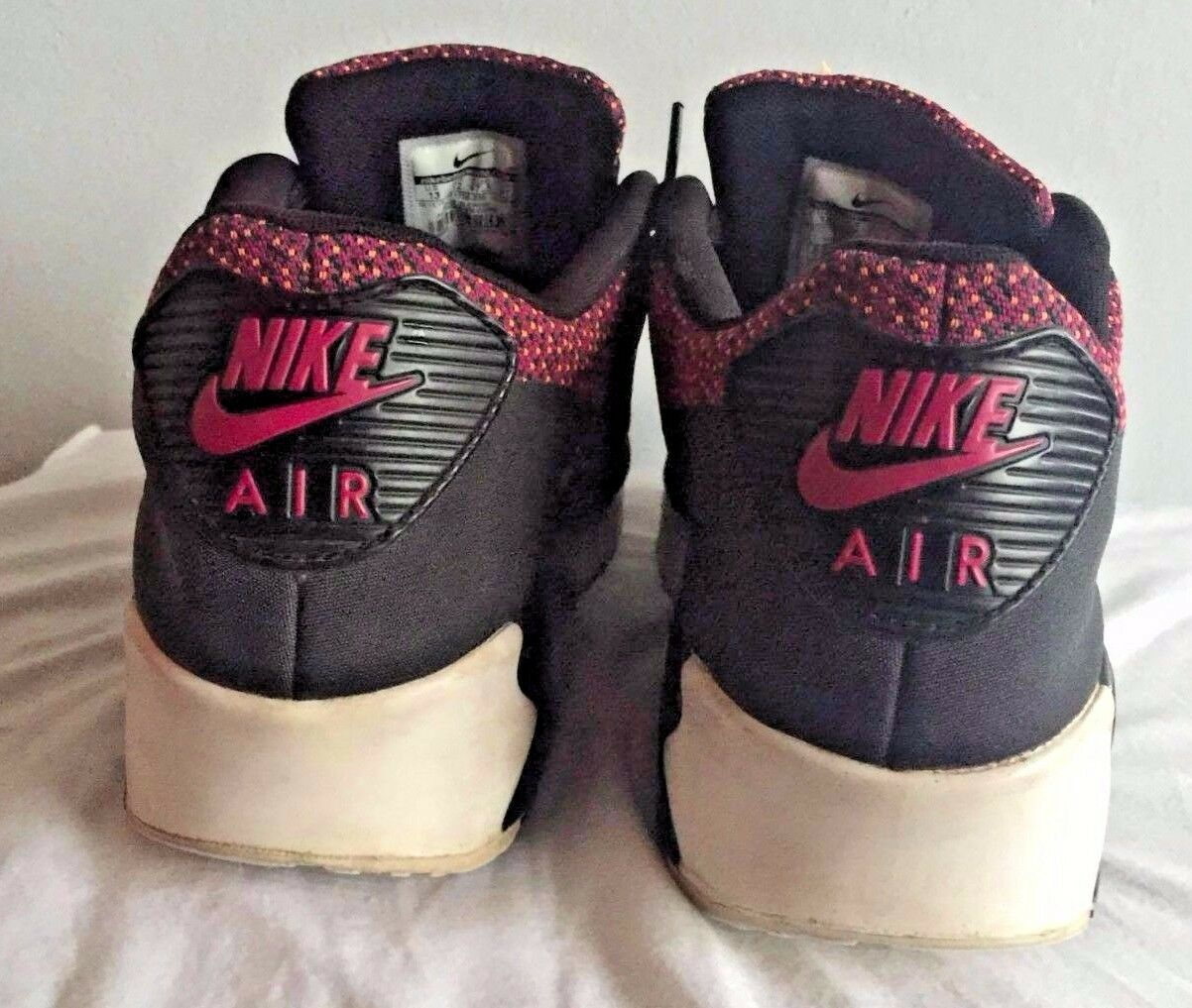NIKE AIR MAX 90 JACQUARD MAGENTA BLACK 13 ORANGE ANTHRACITE Rare Size 13 BLACK 4a3909