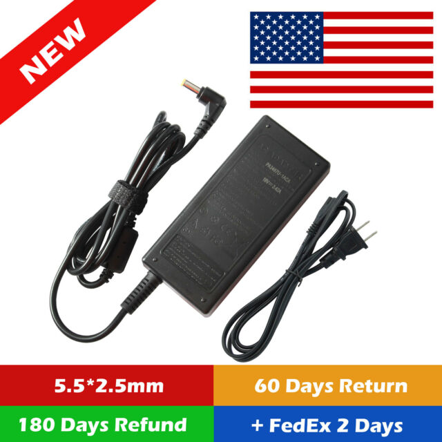 Power Supply Adapter Laptop Charger &Cable For Asus X555L X555LB X555LN USA 19V