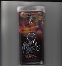 YU GI OH 2002 RED EYES COLLECTABLE PIN & KEY CHAIN