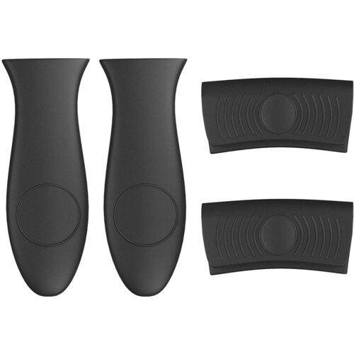 4Pcs Silicone Pot Holder Cast Iron Hot Skillet Handle Cover Potholder Pan Sleeve