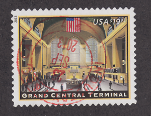 US-Sc-4739-used-2013-19-95-Grand-Central-Terminal-Express-Mail-Bullseye-VF