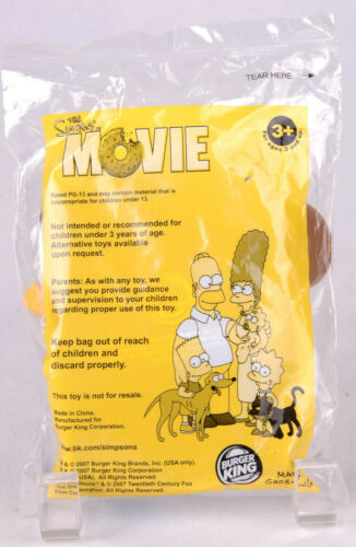 2007 The Simpsons Movie Burger King Kids Meal Talking Toy Comic Book Guy Sumo Ci