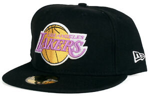 the best attitude cf79e f832c Image is loading Los-Angeles-Lakers-LA-59Fifty-New-Era-Fitted-