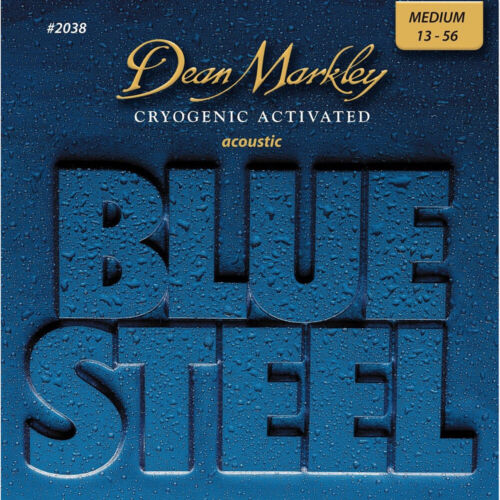 Dean Markley 2038 Blue Steel Acoustic Guitar Strings 6 String 13-56 Medium