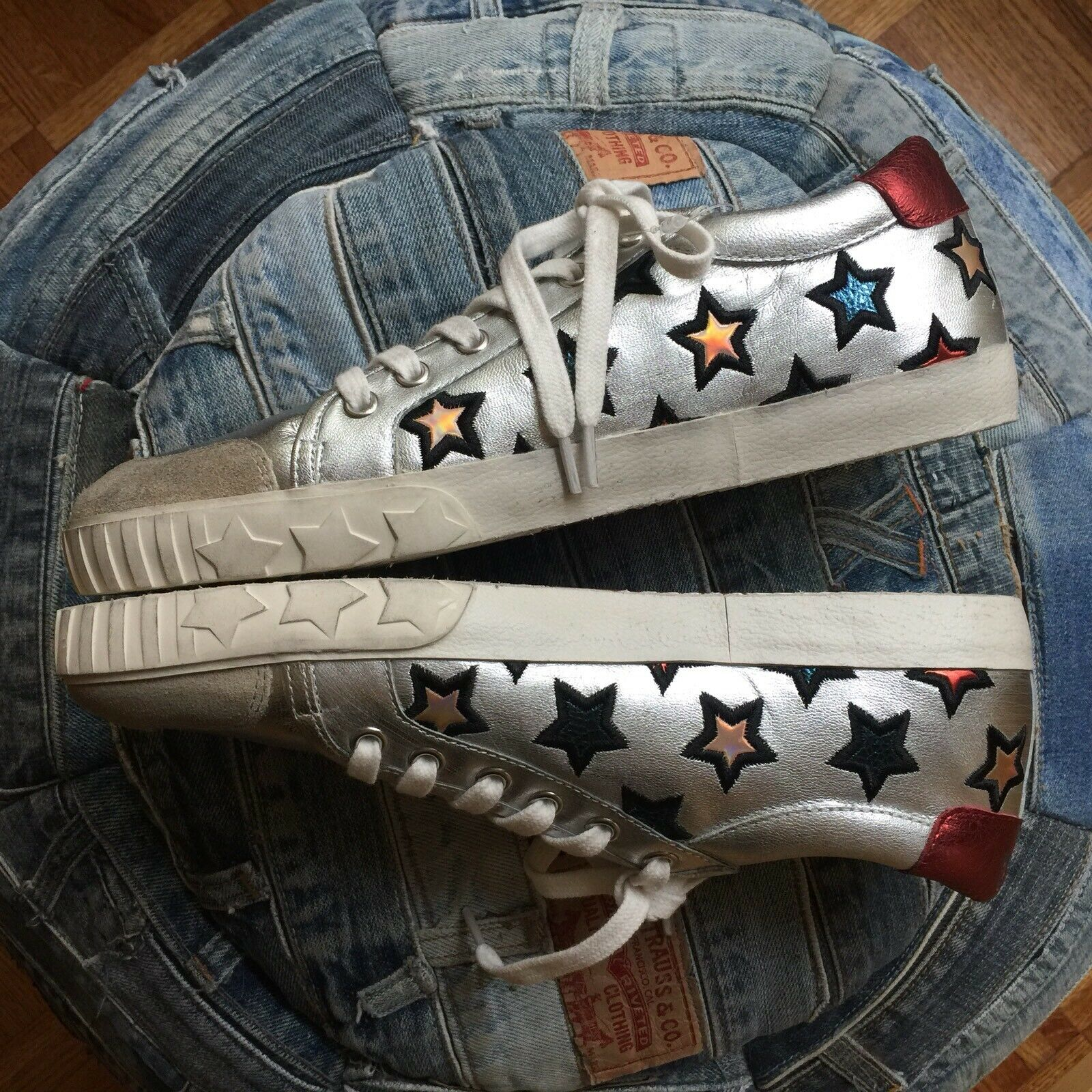 NEW    ASH Majestic Star Star Star Motif Womens Sneakers Trainers sz 40 175816